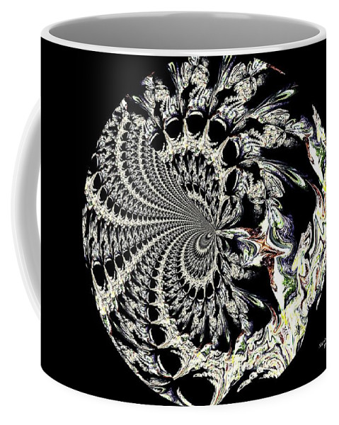 Medallion Coffee Mug featuring the digital art Medallion by Maria Urso