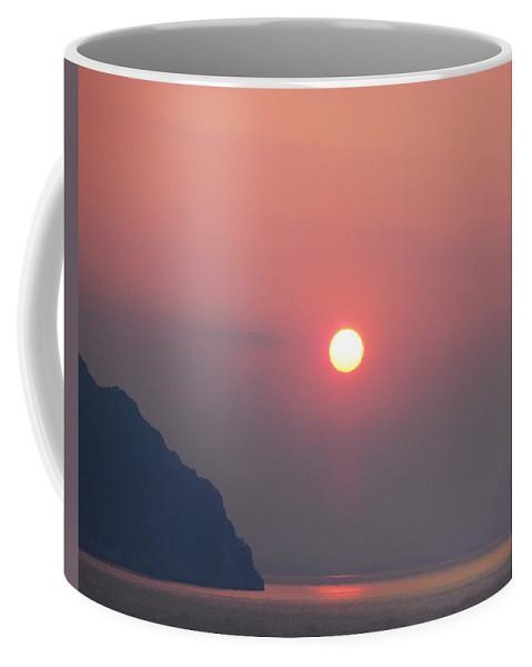 Medaterainian Sunset Coffee Mug featuring the photograph Medaterainian Sunset by Bill Cannon