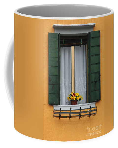 Window Coffee Mug featuring the photograph Mellow Yellow by Bob Christopher