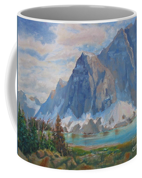 Coffee Mug featuring the painting Melting Stream by Mohamed Hirji