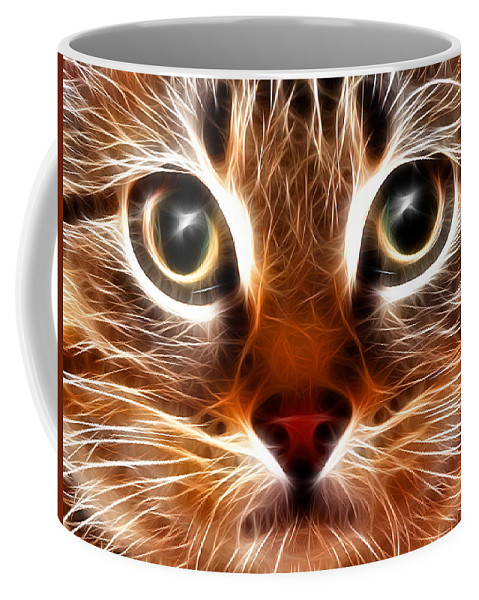 Cat Coffee Mug featuring the digital art Meow by Stephen Younts