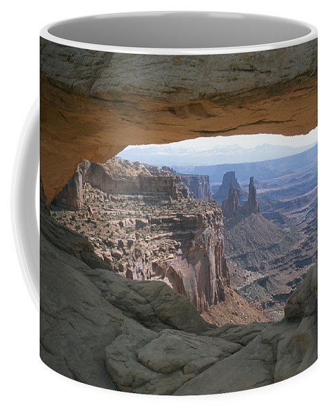 North America Coffee Mug featuring the photograph Mesa Arch In Utahs Canyonlands National by Taylor S. Kennedy