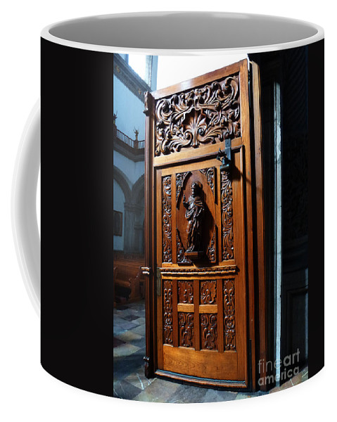 Mesoamerica Coffee Mug featuring the photograph Mexican Door 3 by Xueling Zou