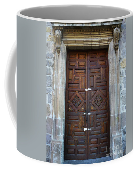 North America Coffee Mug featuring the photograph Mexican Door 32 by Xueling Zou