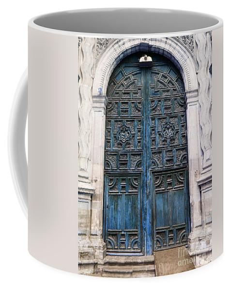 Mesoamerica Coffee Mug featuring the photograph Mexican Door 6 by Xueling Zou