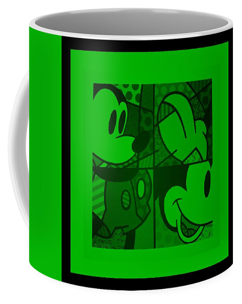 Mickey Mouse Coffee Mug featuring the photograph Mickey In Green by Rob Hans