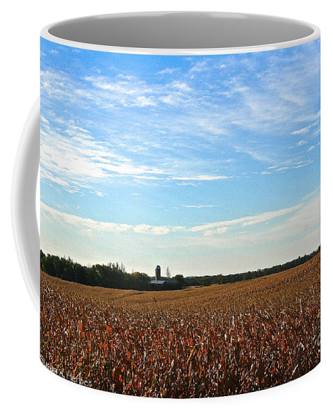 Landscape Coffee Mug featuring the photograph Midwest Farm by Susan Herber