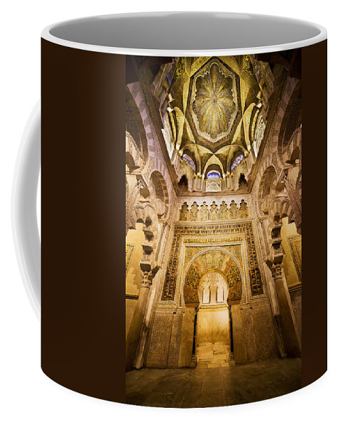 Mihrab Coffee Mug featuring the photograph Mihrab And Ceiling Of Mezquita In Cordoba by Artur Bogacki