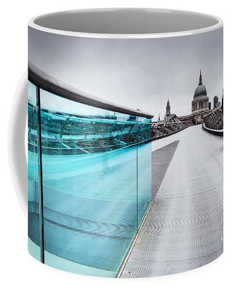 London Coffee Mug featuring the photograph Millenium Commuter by Martin Williams