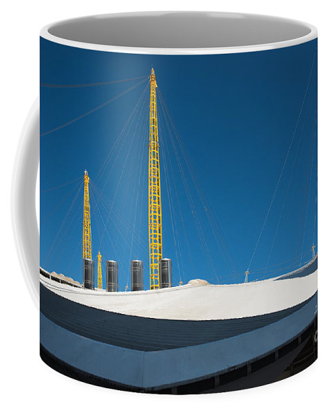 Millennium Dome London Abstract Architecture England English Landscape Modern Building Buildings Coffee Mug featuring the photograph Millennium Dome London by Andrew Michael