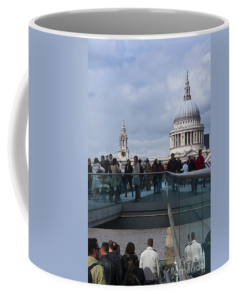 Britain Coffee Mug featuring the photograph Millennium Footbridge by Andrew Michael