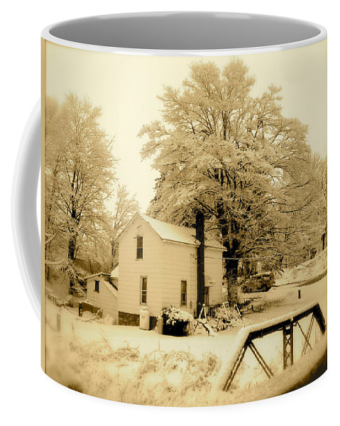Landscape Coffee Mug featuring the photograph Millville by Arthur Barnes