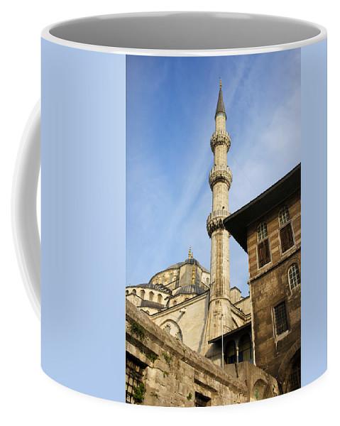 Mosque Coffee Mug featuring the photograph Minaret Of The Blue Mosque by Artur Bogacki