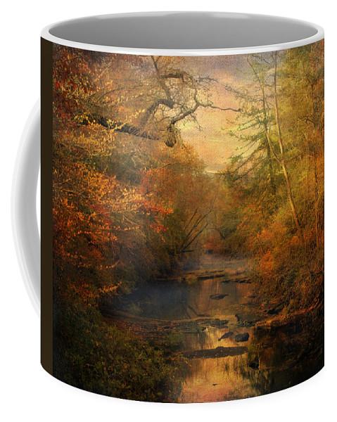 Autumn Coffee Mug featuring the photograph Misty Autumn Morning by Jai Johnson