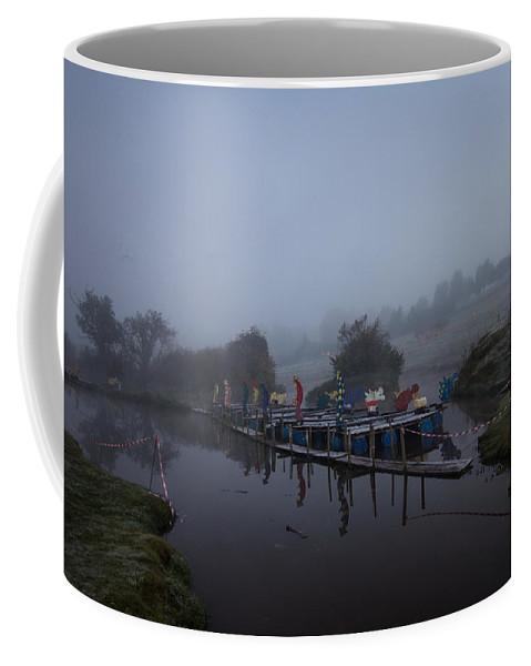 Mist Coffee Mug featuring the photograph Misty Landscape by Dawn OConnor