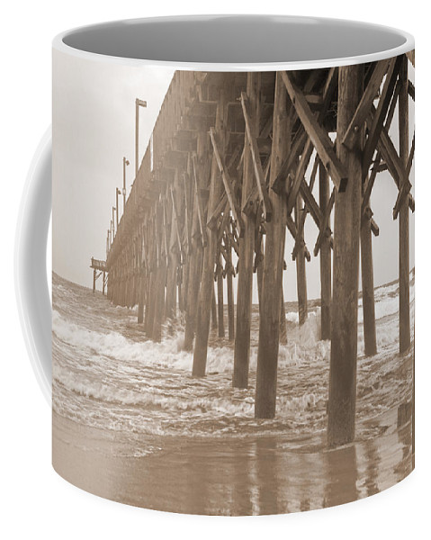 Surf Coffee Mug featuring the photograph Misty Morning by Betsy Knapp