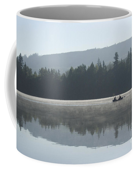 Washington Coffee Mug featuring the photograph Misty Morning Fishing by Jim And Emily Bush