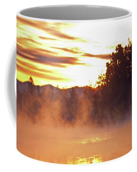 Sun Coffee Mug featuring the photograph Misty Sunrise by Tikvah's Hope