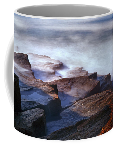 Acadia Photographs Photographs Coffee Mug featuring the photograph Misty Tide At Monument Cove by Rick Berk