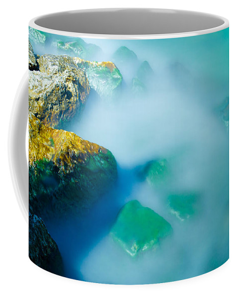 Rocks Coffee Mug featuring the photograph Misty Water by Jonah Anderson