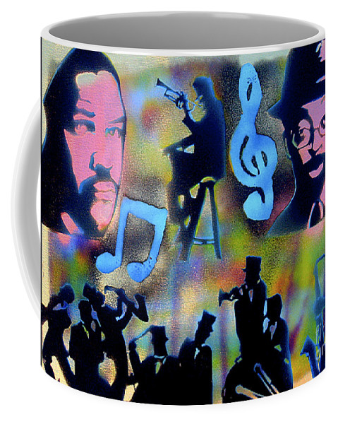 Spike Lee Coffee Mug featuring the painting Mo Betta Blues by Tony B Conscious