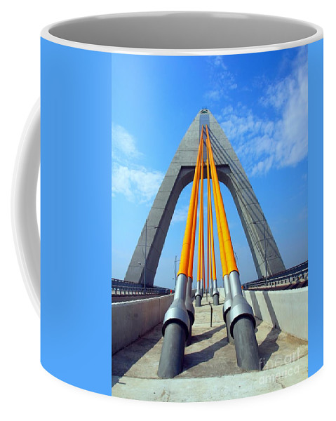 Bridge Coffee Mug featuring the photograph Modern Cable-stayed Bridge by Yali Shi