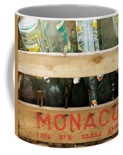 Bottles Coffee Mug featuring the photograph Monaco Wooden Crate by Lainie Wrightson