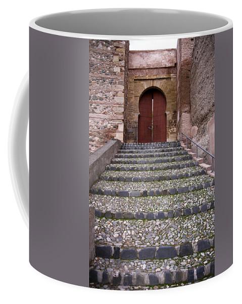 The Alhambra Coffee Mug featuring the photograph Monaita Door by Guido Montanes Castillo