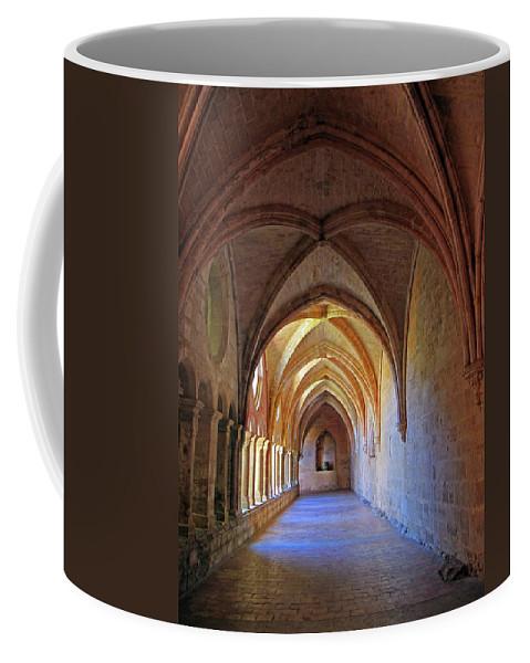 Monastery Coffee Mug featuring the photograph Monastery Passageway by Dave Mills