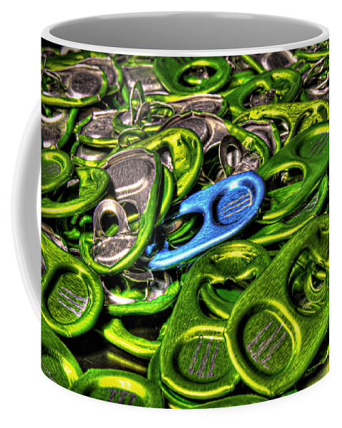 Coffee Mug featuring the photograph Monster Can Tabs Detroit Mi by Nicholas Grunas