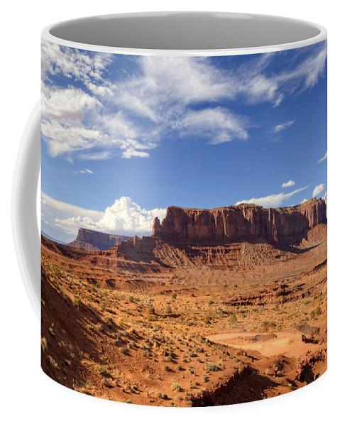 Monument Valley Coffee Mug featuring the photograph Monument Valley Arizona by Saija Lehtonen