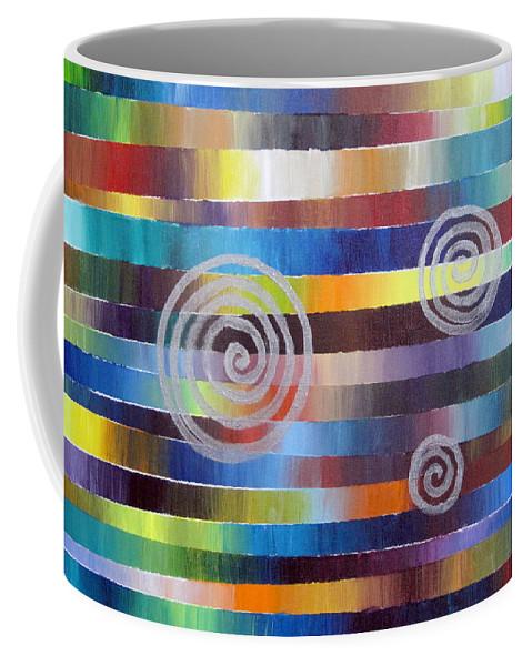 Mood Coffee Mug featuring the painting Mood Universe by Jeremy Aiyadurai