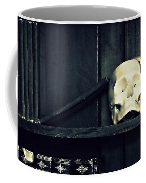 Skull Coffee Mug featuring the photograph More Than Books by Marysue Ryan