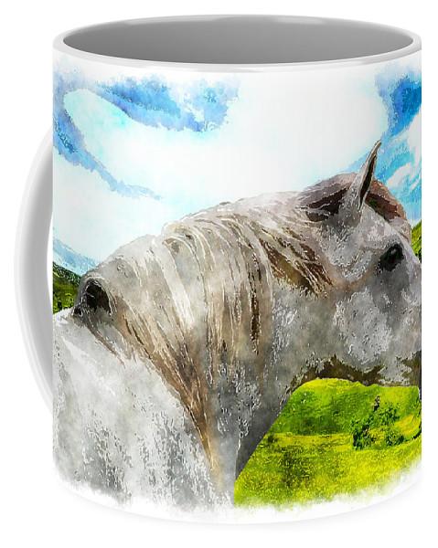 Horse Coffee Mug featuring the photograph Morisco Summer by Vicki Podesta