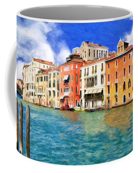 Morning Coffee Mug featuring the painting Morning In Venice by Dominic Piperata