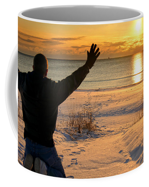 Kewaunee Coffee Mug featuring the photograph Morning Reverence by Bill Pevlor