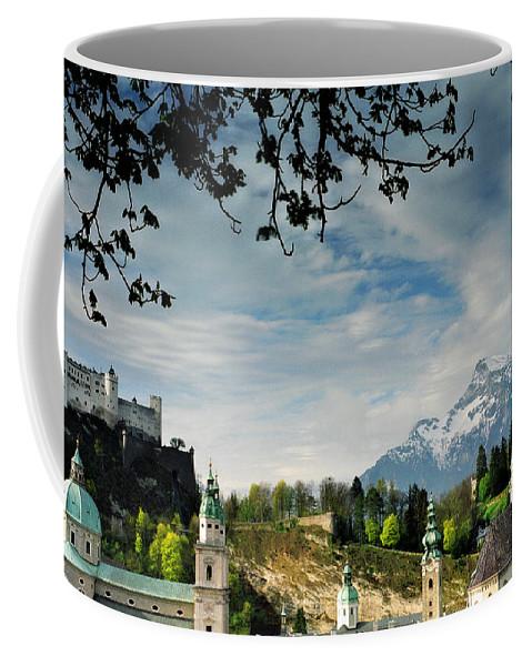 Salzburg Coffee Mug featuring the photograph Morning View Of Salzburg From Kapuzinerberg by Greg Matchick