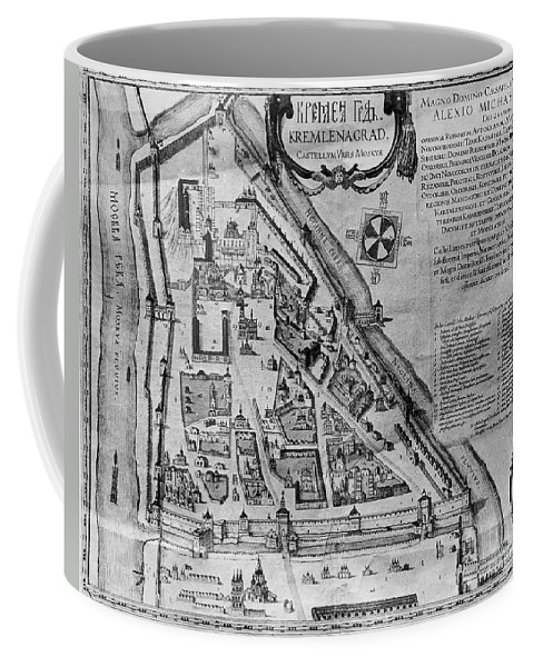 17th Century Coffee Mug featuring the photograph Moscow: Map, 17th Century by Granger