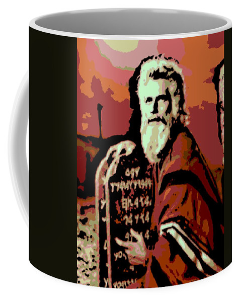 Moses Coffee Mug featuring the photograph Moses And The 10 Commandments by George Pedro