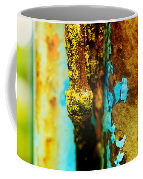 Nature Coffee Mug featuring the photograph Moss And Rust II by Toni Hopper