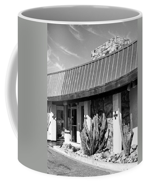 Dhs Coffee Mug featuring the photograph Motel Cactus by William Dey