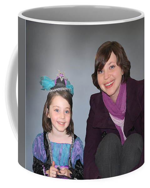Portraits Coffee Mug featuring the painting Mother And Daughter by Tom Schmidt