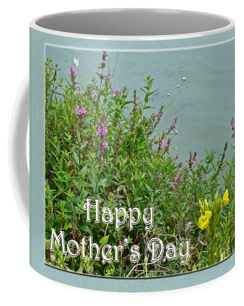 Mothers Day Coffee Mug featuring the photograph Mother's Day - Wildflowers By The Pond by Mother Nature