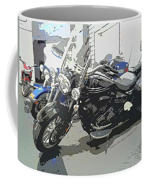 Motorcycle Coffee Mug featuring the photograph Motorcycle Ride - Three by Carl Deaville
