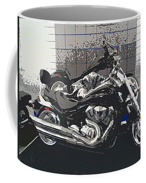 Motorcycle Coffee Mug featuring the photograph Motorcycle Ride - Two by Carl Deaville