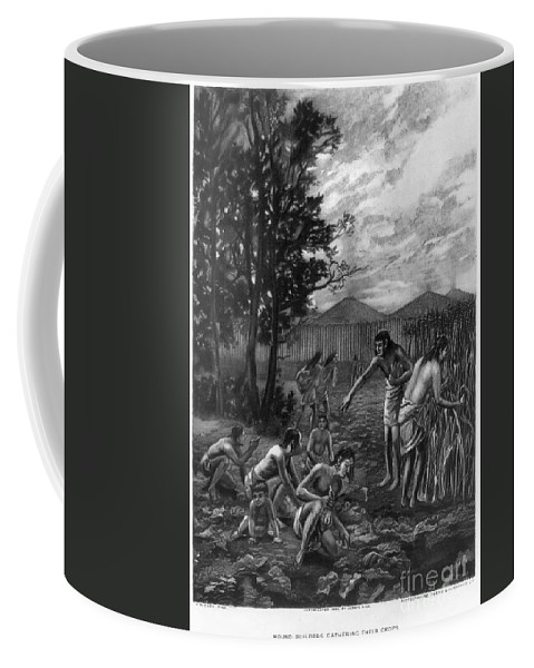 1892 Coffee Mug featuring the photograph Mound Builders: Farming by Granger