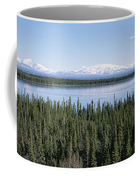 North America Coffee Mug featuring the photograph Mount Drum, Sanford And Wrangell by Rich Reid
