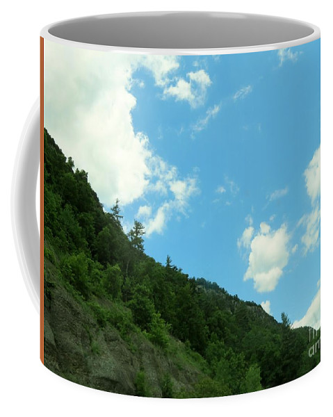 Mountain Coffee Mug featuring the photograph Mountain Side by Art Dingo