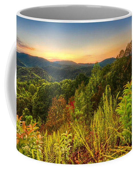 Appalachia Coffee Mug featuring the photograph Mountainside by Debra and Dave Vanderlaan