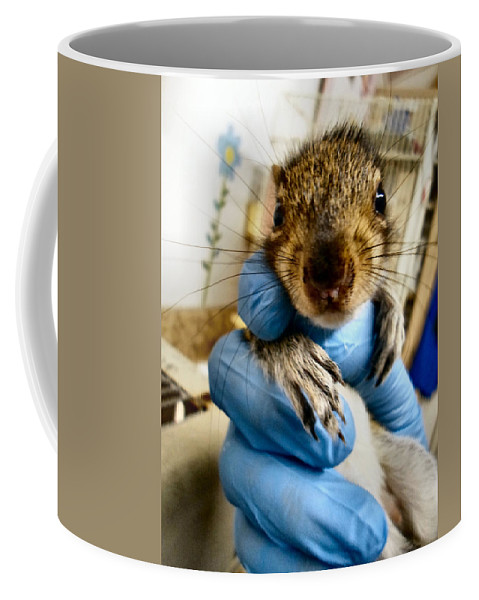 Antler Coffee Mug featuring the photograph Mr. Whiskers by Art Dingo